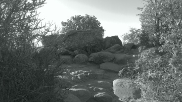 Boulders at the height.