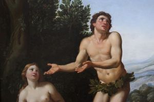 Adam blaming Eve, Domenico Zampieri