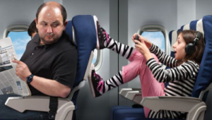 Children on planes - there ought ot be a law!  ()