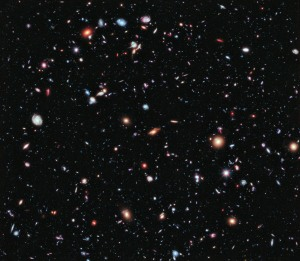 A few of the galaxies visible from the Hubble telescope