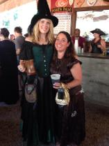 Dana Tuttle with someone who is not a Salem witch