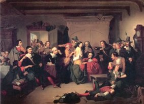 Examination of a Witch, by Thompkins H. Matteson (Wikimedia)