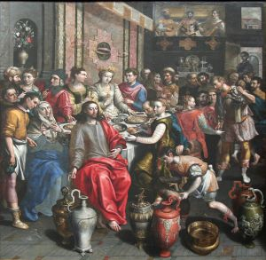 It looks like quite a party: Marriage at Cana by Marten de Vos (Wikimedia)