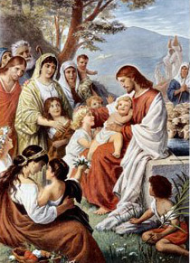 Jesus Blessing the Children, Bernard Plockhorst (1825-1888) (Wikipedia)