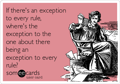 Exceptional rule