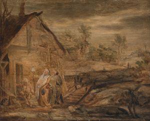 Mary and Joseph Outside the Inn, John Runciman (1744-68) (Wikimedia)