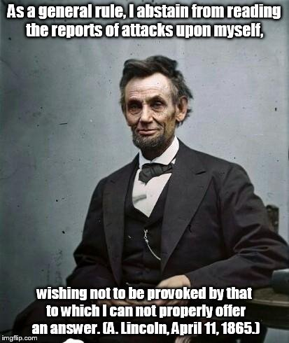 Lincoln personal attacks