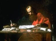 Saint Paul Writing His Epistles, Valentin de Boulogne (1591–1632) (Wikipedia)