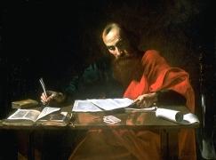 Saint Paul Writing His Epistles, Valentin de Boulogne (1591–1632) (Wikipedia)