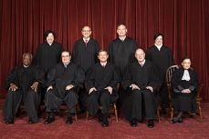 Supreme Court Justices in their robes (Wikipedia)