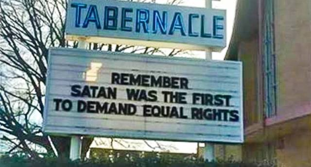 Satan and Equal Rights