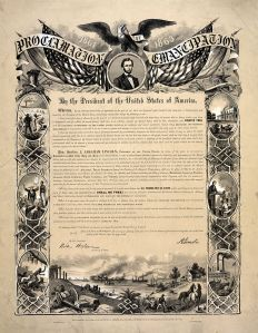 The Emancipation Proclamation (Wikimedia)