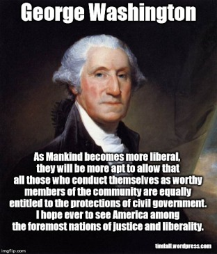 Washington on liberality