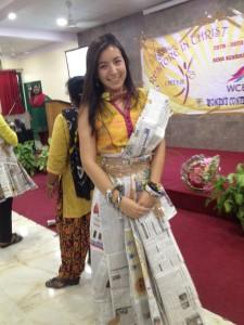 Jenna Newspaper Sari
