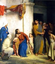 Christ with Children, Carl Bloch (Wikimedia)