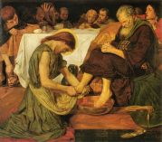 Jesus Washing Peter's Feet, Ford Madox Brown (1856) Wikimedia