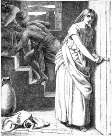 Rahab Receiveth and Concealeth the Spies, by Frederick Richard Pickersgill (19th C.)