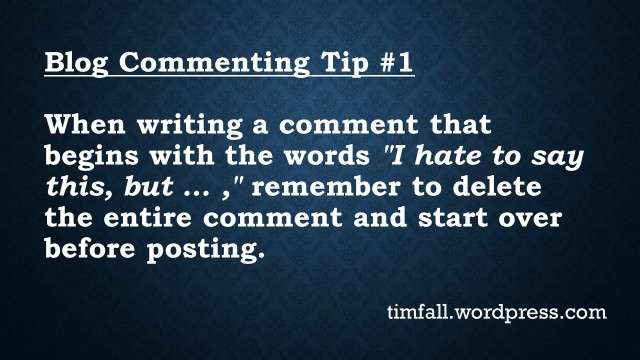 Blog Commenting Tip