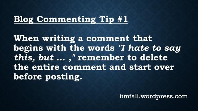 Blog Commenting Tip