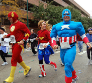 Some people run in costume. We didn't.