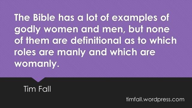 Biblical Gender Roles