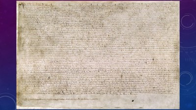 Magna Carta. I saw the original in the British Museum in 1983. Yes I'm old. But I'm not as old as the Magna Carta.