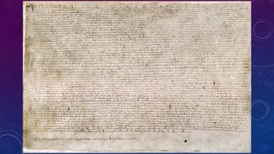 Magna Carta. I saw the original in the British Museum in 1983. Yes I'm old. But I'm not as old as the Magna Carta.