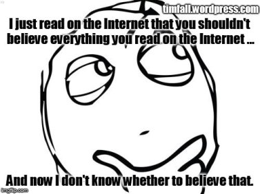 believing the internet