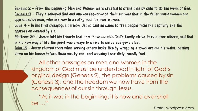 Women and Men, from the Beginning