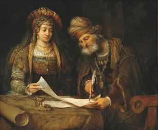Esther and Mordecai (Wikipedia)
