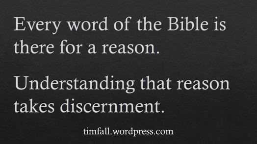 Every word of the Bible