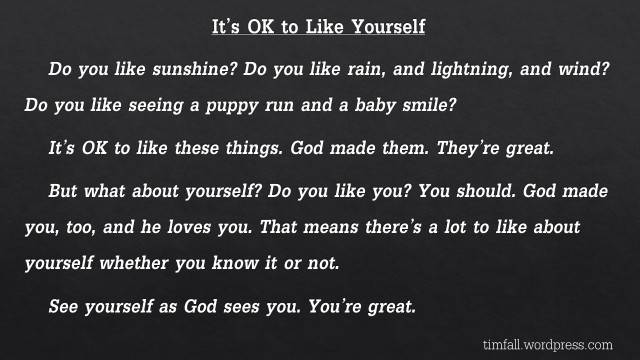 It's OK to Like Yourself 2