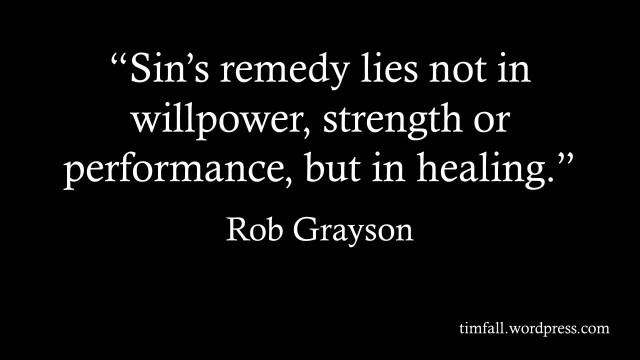 Sin's remedy