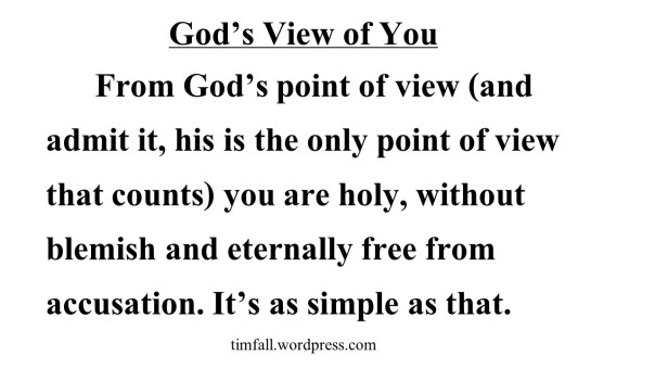 God's View of You
