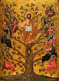 16th C. Eastern Orthodox Icon of Jesus Christ as the True Vine (Source)