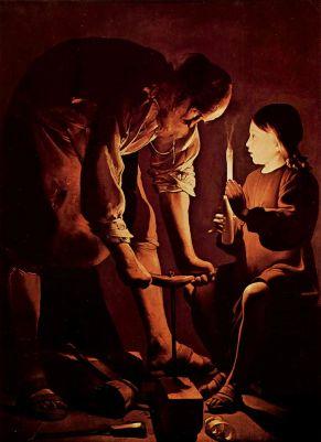 Saint Joseph charpentier, George de la Tour ca. 1640 (Wikipedia)