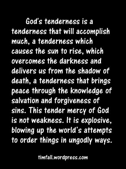 God's tenderness